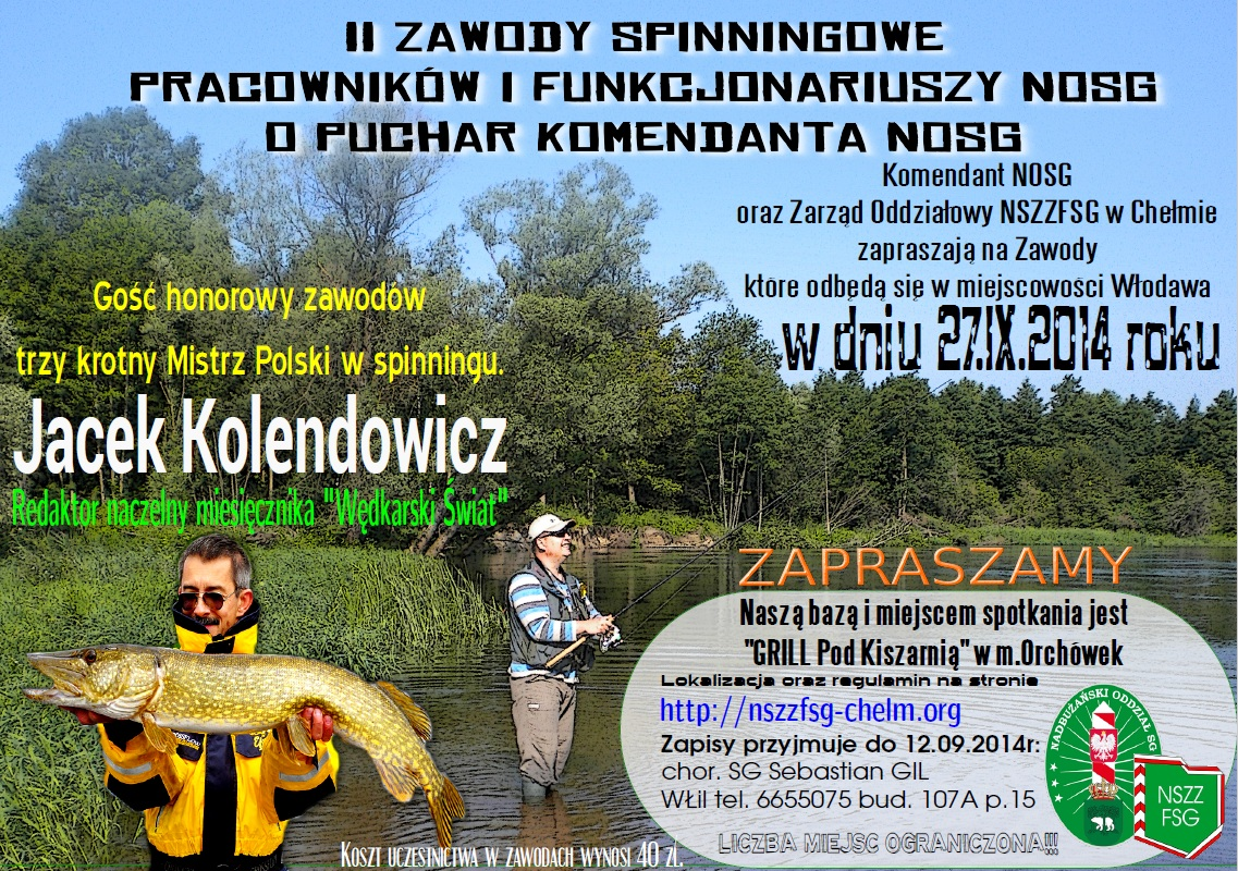 II Zawody spinningowe o puchar komendanta NOSG 27.09.2014r.