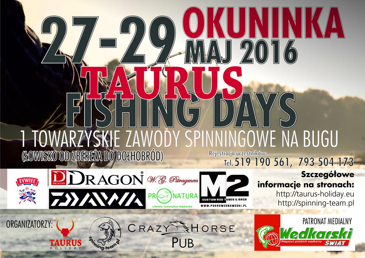 Zawody wędkarskie TAURUS FISHING DAYS Okuninka 2016